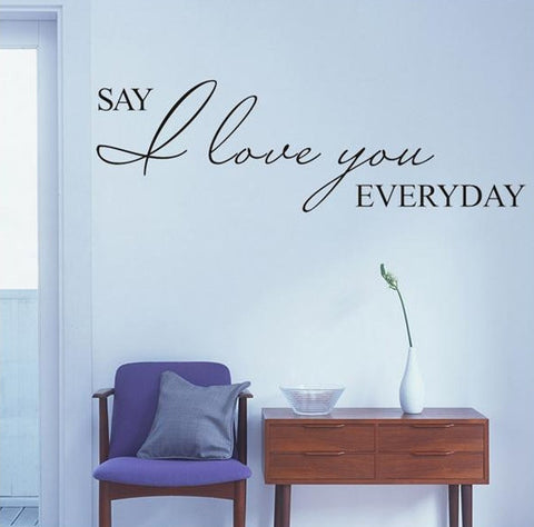 wallstickers tekst say i love you