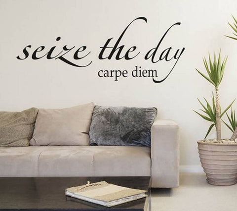 wallstickers tekst seize the day carpe diem