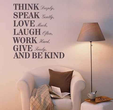 wallstickers tekst think speak love