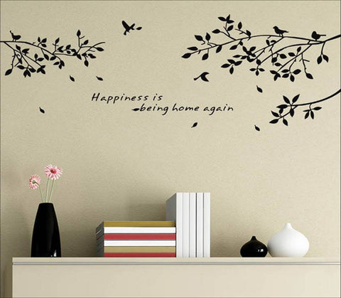 wallstickers træ happiness is being home again