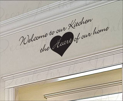 wallstickers køkken welcome to our kitchen