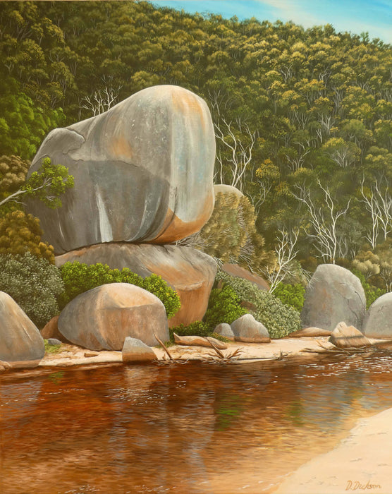 Whale rock, Tidal river, Wilsons Prom