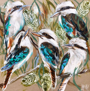 Kookaburra and Golden Banksia - Art Print