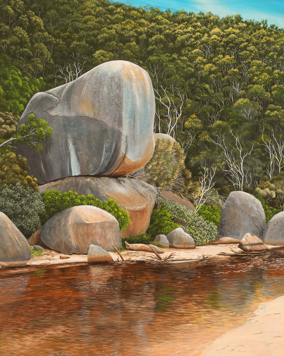 Whale rock Tidal river Wilsons prom giclee print