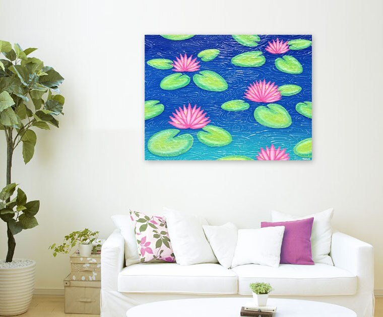 Abstract - Water Lilies - special save $140