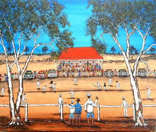 Family Day At The Cricket Original Sold commission work