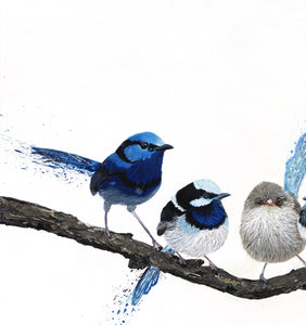 Birds of a Feather - Six Wrens- Limited Edition Print