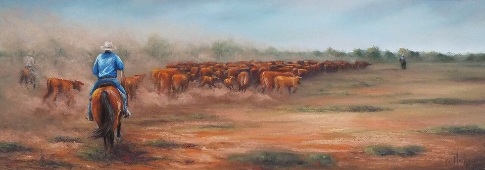 "'Walking Them Back"" - Limited Edition Fine Art Reproductions Only"