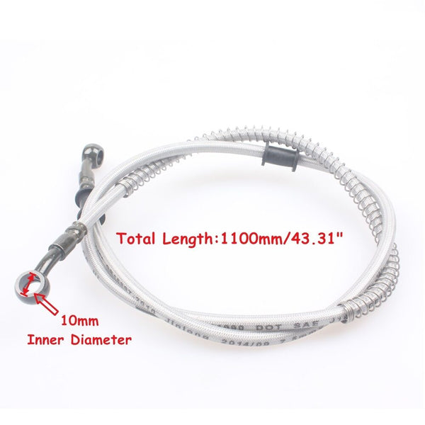 "43.3"" Stainless Braided Hydraulic Brake Line / Hose"