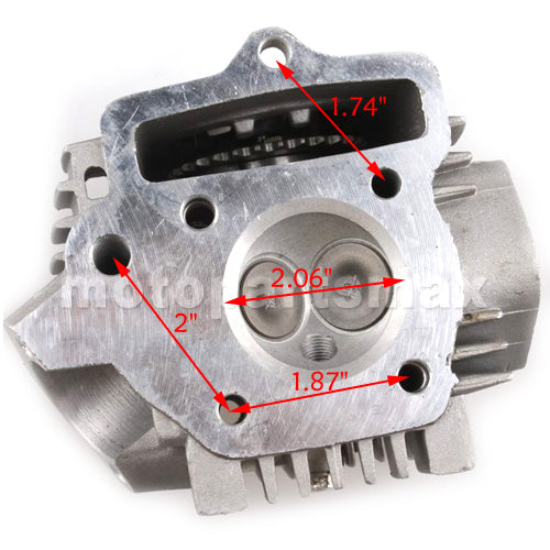52.4mm Cylinder Head Assembly for 110cc ATVs, Dirt Bikes & Go Karts
