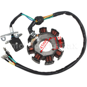 8 Coil Stator Magneto for Vertical CG 200cc-250cc Engines