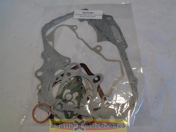 Complete Gasket Set for china 110cc with Bottom Mount Starter ATV,Quad,Pit Bike