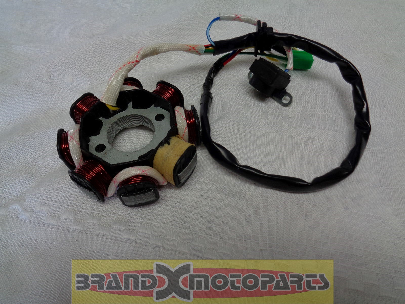 8-Coil Magneto Stator w/pickup for GY6 50cc-150cc ATV, Go Kart, Moped & Scooter