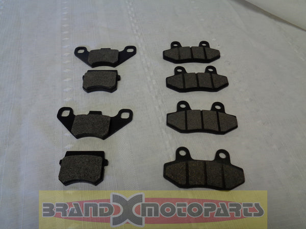 Brake Pad Set 2 front 2 rear for Buggy's, Go Kart Roketa, Pierspeed