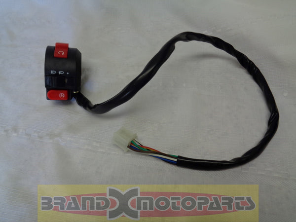 3 Function Switch Assembly for 50-250cc Scooters, ATV and Pit Bikes (Left side)