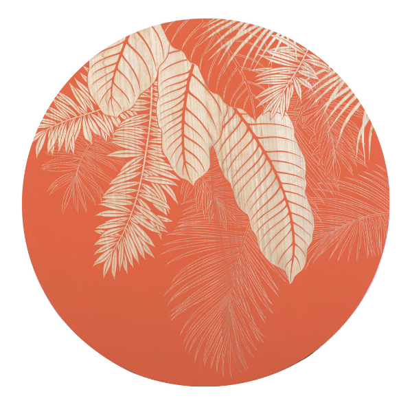 WALL ART CORAL JUNGLE ROUND