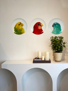 WALL ART BLUE PARROT