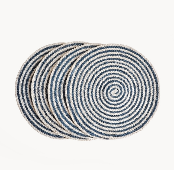PLACEMAT SAI / NATURAL BLUE (set of 4)