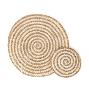 PLACEMAT SAI / NATURAL WHITE (set of 4)