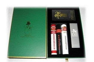 "A ""Havana Happy Christmas"" Gift Box - Robusto (Green Box)"