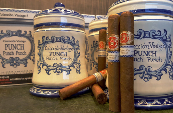 "Punch ""Punch Punch"" Colección Vintage jar / 19 cigars"