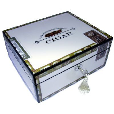 Angelo 50 Size High Gloss Cigar Box With Lock