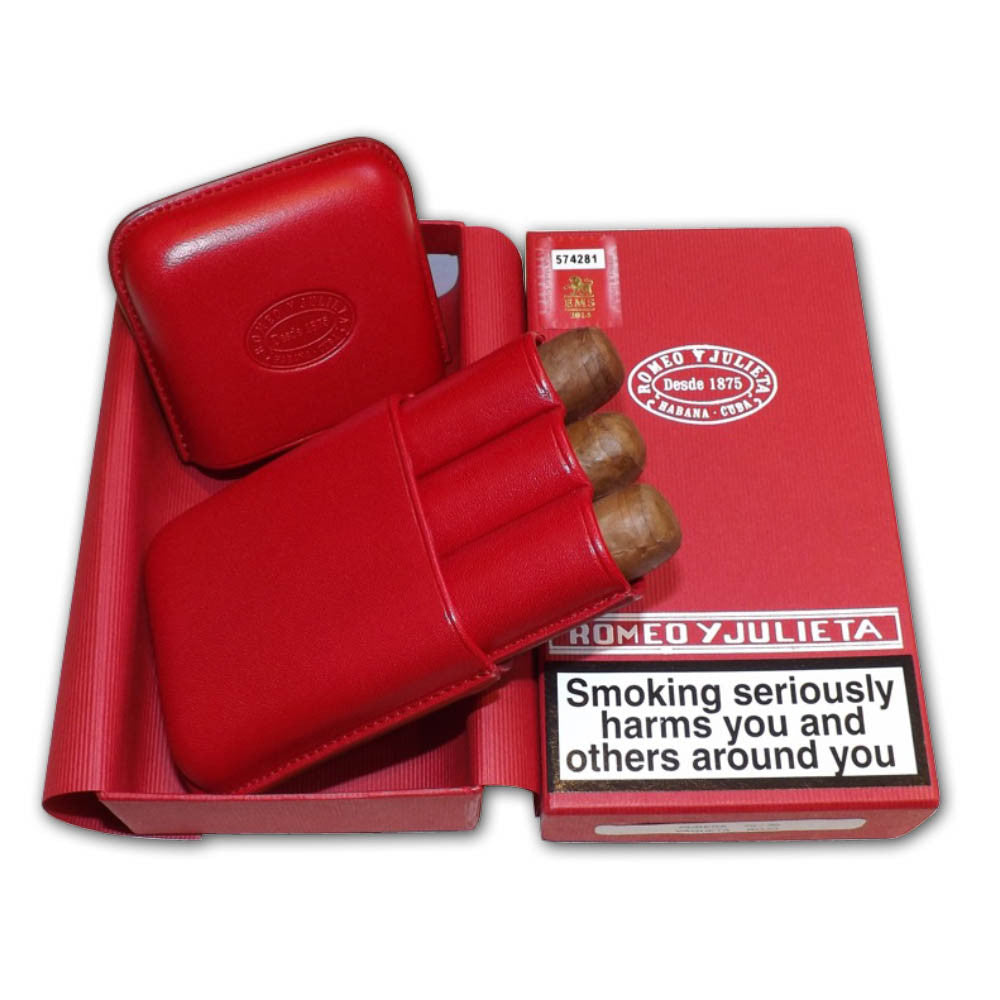 Romeo y Julieta Exhibition No. 4 – Leather Pouch Gift Pack – 3 cigars