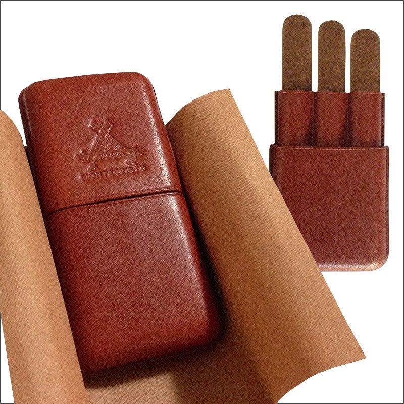 Montecristo Cigar Case for 3 Cigars