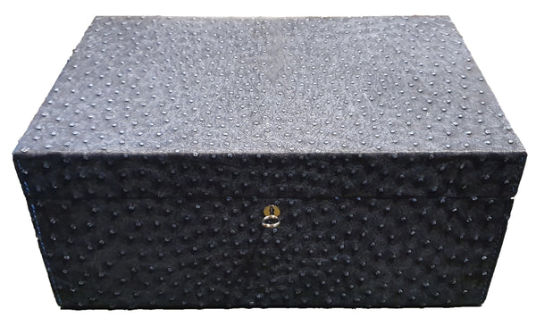 Humidor - Genuine Ostrich Leather (capacity of 150 cigars)