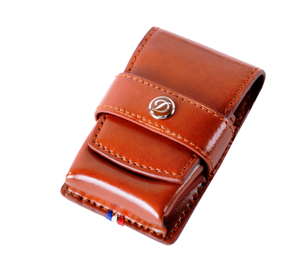 S.T. Dupont - Lighter Case - Line D Leather - Brown