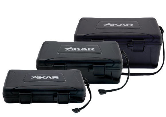 Xikar travel humidors - 5, 10 and 15 cigars