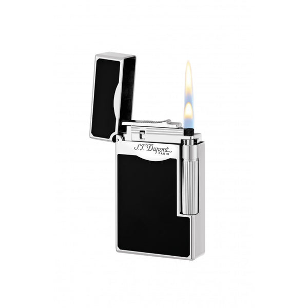 S.T. DUPONT - LE GRAND - PALLADIUM & CHINESE LACQUER LIGHTER BLACK