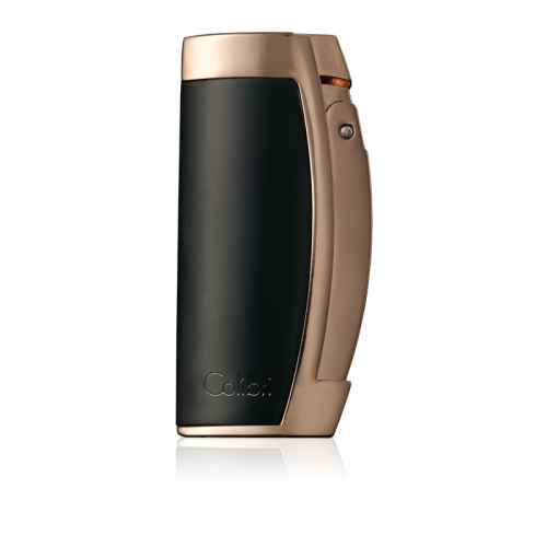 Colibri Enterprise III - Triple Jet Lighter – Black and Satin Rose Gold