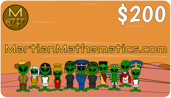 Martian Mathematics Gift Card