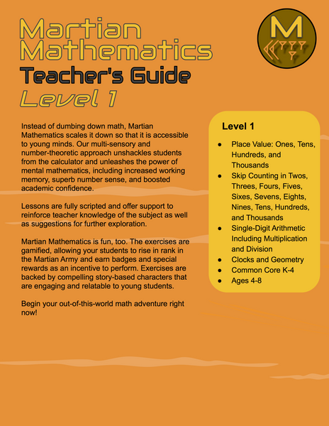 Level 1 Teacher's Guide, Lessons 8-15