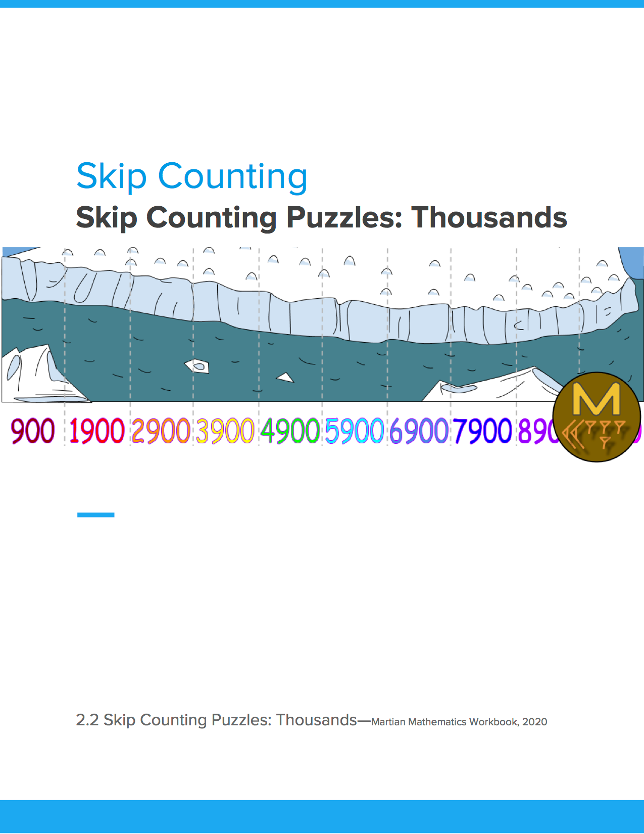 Skip Counting Puzzles: Thousands
