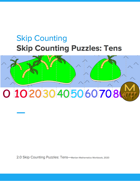 Skip Counting Puzzles: Tens