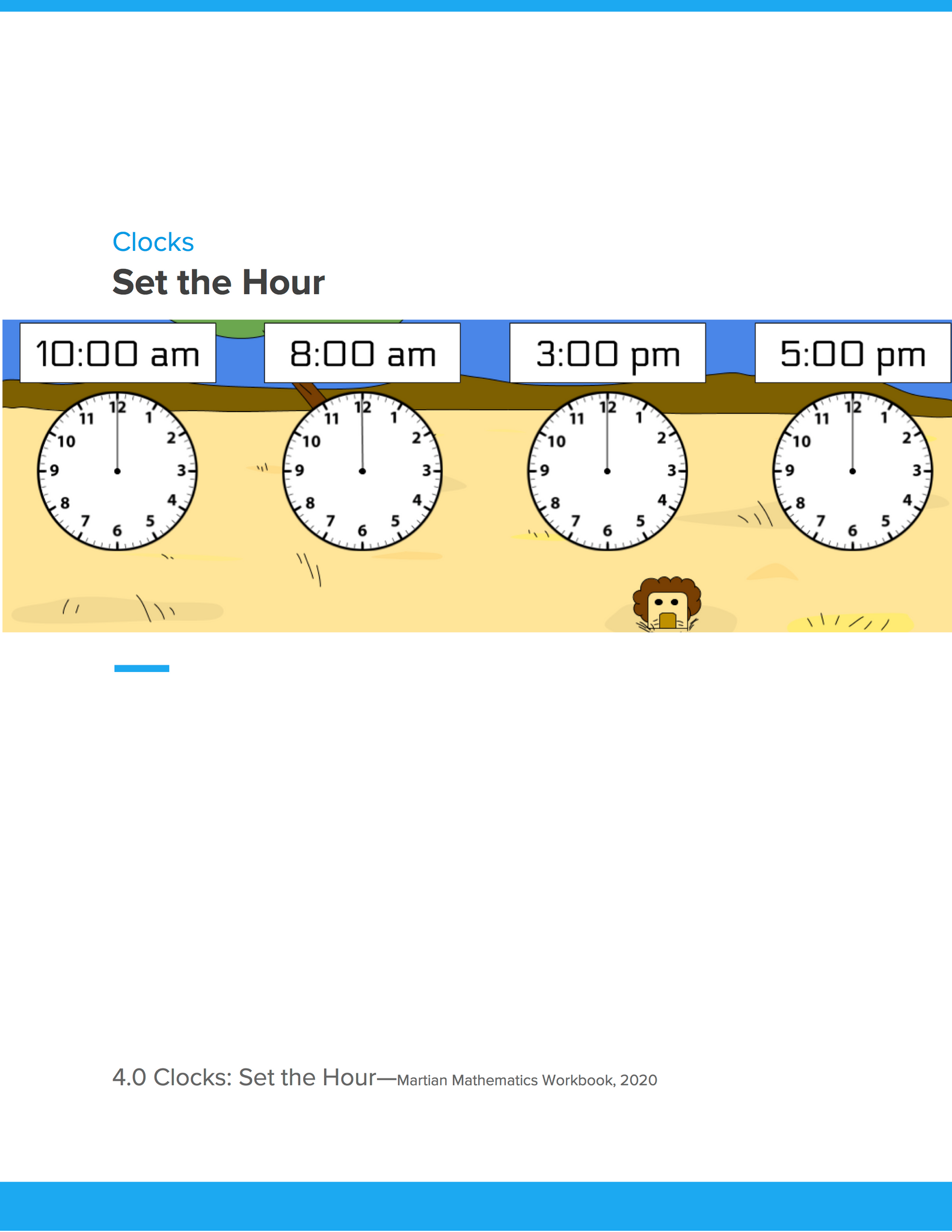 Clocks: Set the Hour