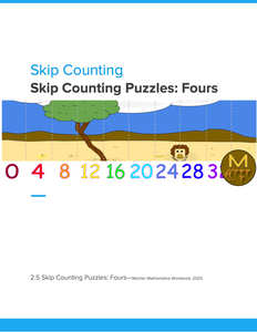 Skip Counting Puzzles: Fours