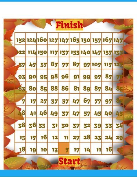 Thanksgiving Skip Counting Fun Pack