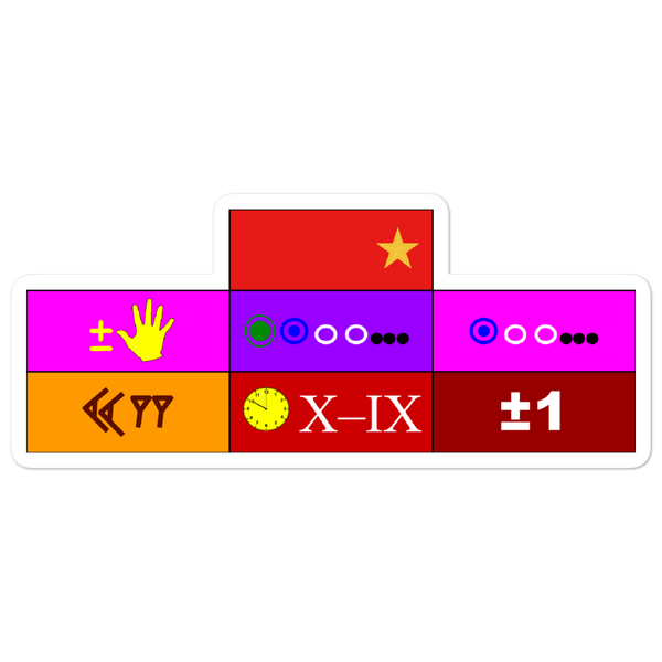 """Cadet 4th Class Ribbon Array"" Bubble-free stickers"