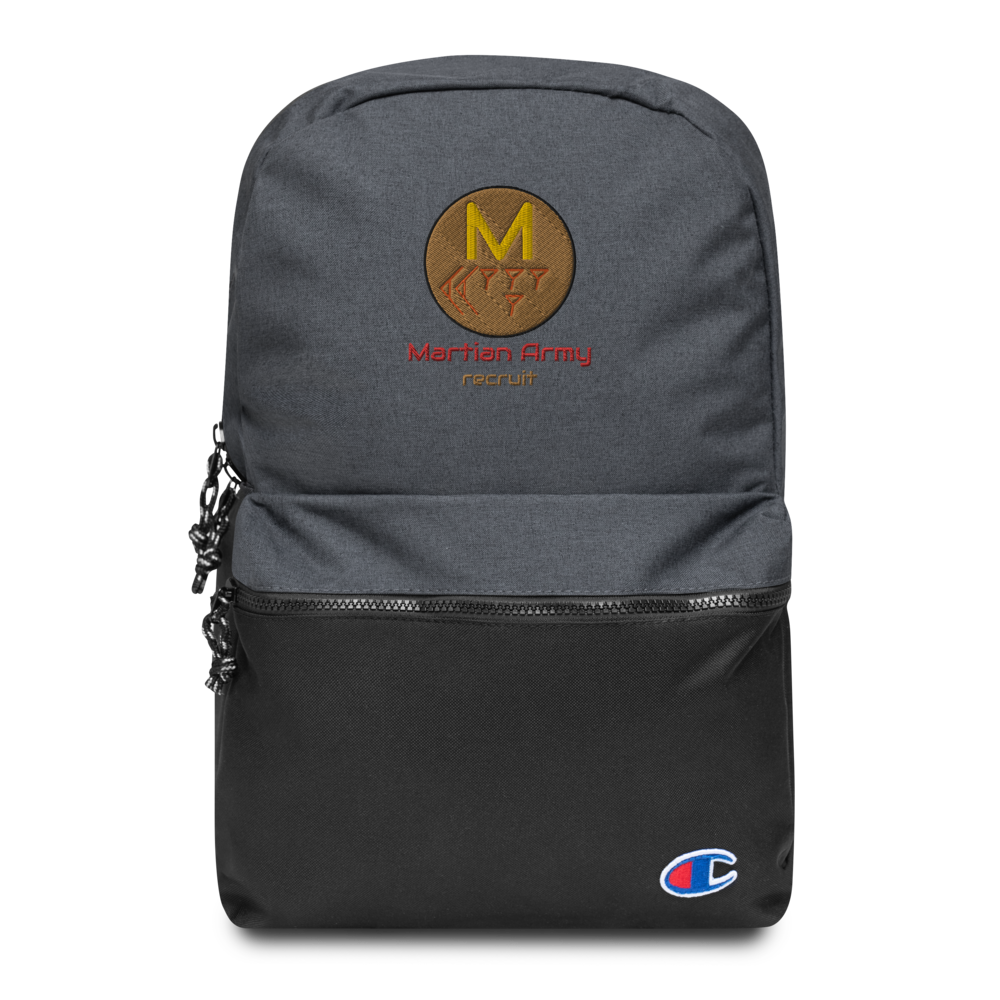 """Martian Army: Recruit"" Embroidered Champion Backpack"