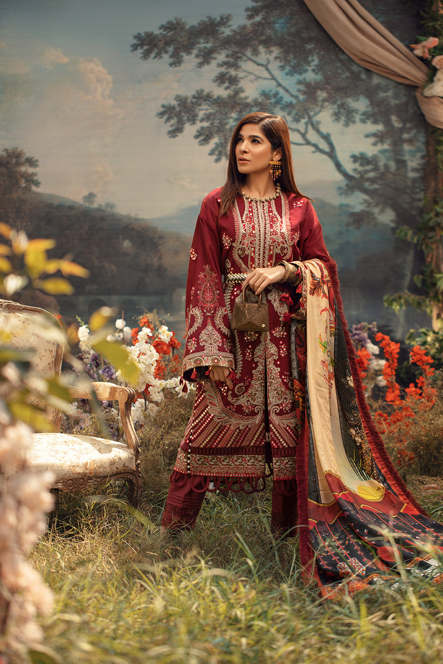 Maryam Hussain Fauna Winter Shawl Collection