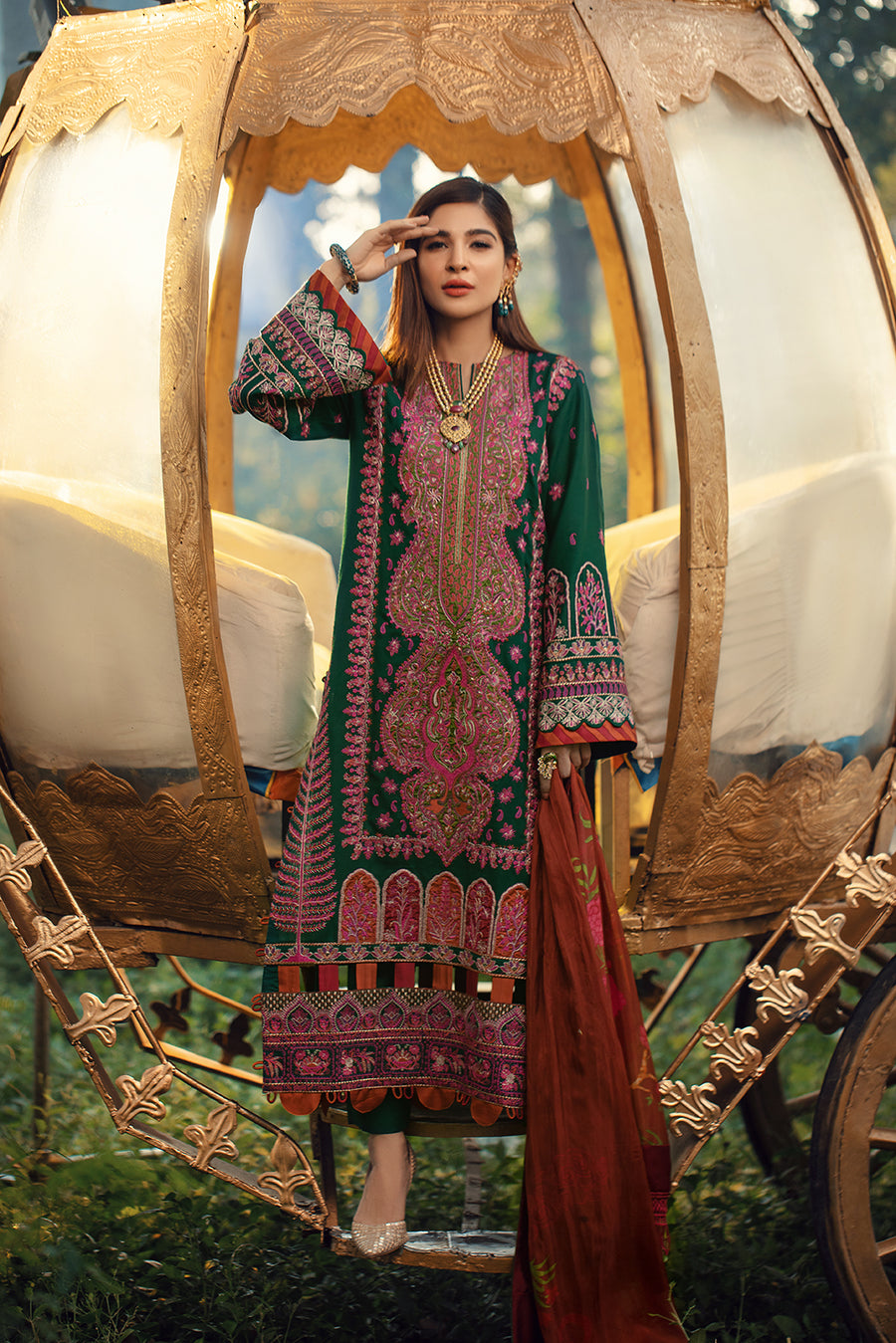 Maryam Hussain Emrald Winter Shawl Collection