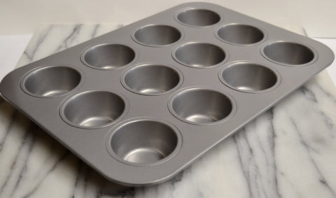 Non-Stick Muffin/Cupcake Pan, 12 Cup by Chicago Metallic