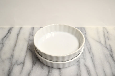 "5"" Creme Brûlée Dishes, Round - Set of 2"