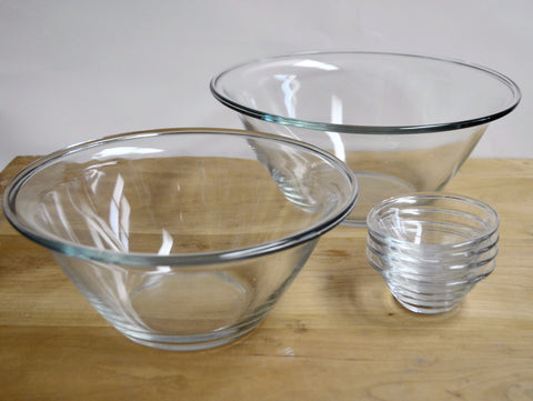 Glass Mixing Bowls, 11.75