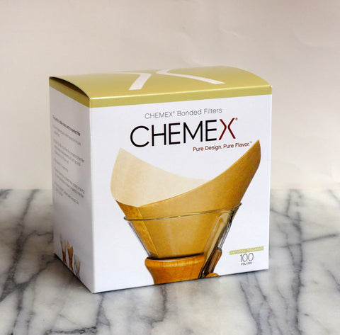 Chemex Bonded Filters, Natural Squares