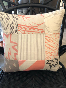 "Eve Likes Green Pattern Square Pillow 16"" by 16"""