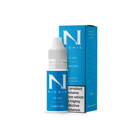 15mg Nic Nic Flavourless Nicotine Shot 10ml 70VG